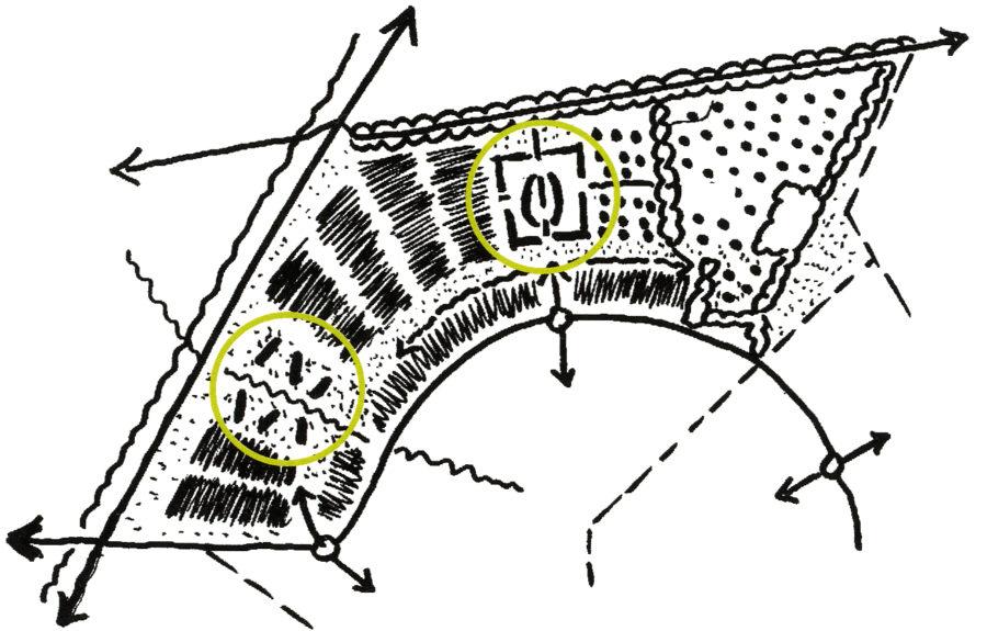 hoofdopzet van het stedenbouwkundig plan
